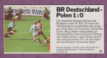 West Germany v Poland Maier Vogts Deyna 1974 World Cup